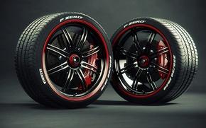 Picture tires, drives, caliper, Pirelli, brake disc