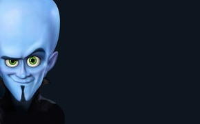 Picture blue, head, megamind