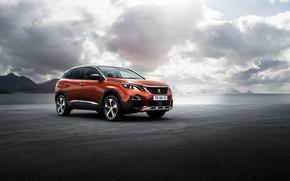 Picture the sky, clouds, Peugeot, car, 3008, impressive