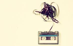 Picture plastic, tape, cassette
