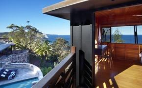 Picture ocean, view, resort, Bungalow