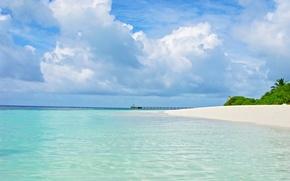 Picture beach, the sky, the ocean, Laguna