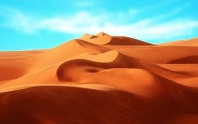 Wallpaper dunes, the sky, Sands