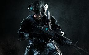 Picture battlefield, gun, Halo, soldier, weapon, war, dust, army, rifle, knife, suit, Halo 4: Forward Unto …