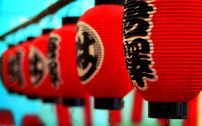 Picture Japan, characters, Japan, the red lanterns