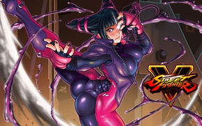Picture fighter, chest, sf5, ass, girl, Street Fighter, juri, Juri Han