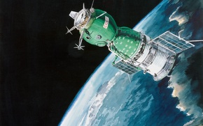Picture flight, spaceship, Union, Soviet