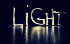 Picture light, blue, Light
