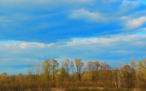 Picture autumn, the sky, clouds