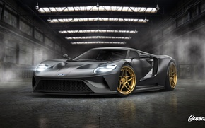 Picture Ford, Color, Grey, Tuning, Wheels, ADV.1, by Gurnade