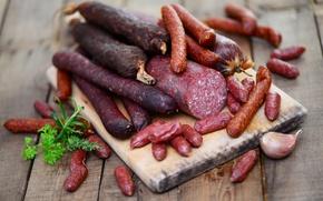 Picture greens, sausage, garlic, specialties