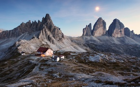 Picture the sky, landscape, sunset, mountains, house, Italy, house, sky, landscape, Italy, sunset, mountains, beautiful nature, …
