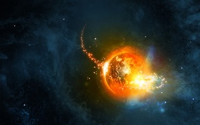 Picture stars, nebula, earth, planet, anomaly