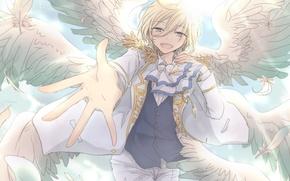 Picture angel, anime, art, guy, tenshouin eichi, ensemble stars