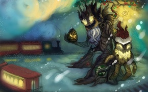 Picture winter, trees, new year, perfume, art, christmas or winter maokai, by laments