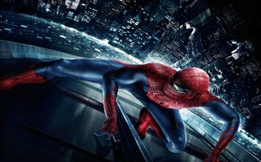 Wallpaper The Amazing Spider-Man, new York, New spider-Man, night, the city, spider