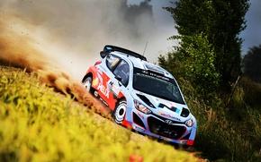 Picture Auto, Dust, Sport, Machine, Speed, Race, Skid, Day, WRC, Rally, Rally, i20, Hyundau