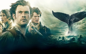 Wallpaper poster, Cillian Murphy, Cillian Murphy, Chris Hemsworth, sailors, In the Heart of the Sea, fin, ...
