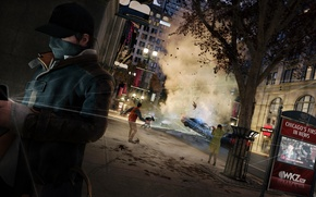 Picture the city, Watch Dogs, Watchdogs, Aiden Pearce, cloak.the explosion
