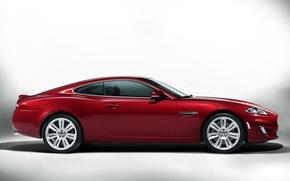 Picture Jaguar, XKR, Red, Color, Machine, Coupe