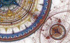 Wallpaper circles, blue, red, yellow, pattern, color, deviantart, Prelkia