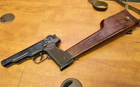 Picture gun, automatic, APS, Stechkin, 9mm, holster-butt