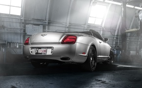 Picture Bentley, Continental, Car, Forged, GTC, Silver, Wheels, Rear, Strasse