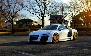 Picture Audi, white, vossen wheels