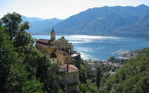 Picture the city, lake, Italy, Italy, lake Maggiore