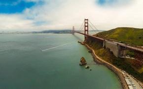 Picture sky, ocean, bridge