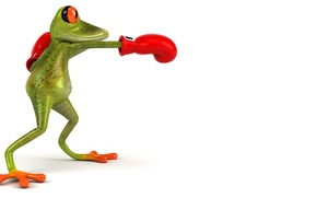 Picture graphics, frog, Boxing, glove, Free frog 3d