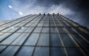 Picture the sky, house, Windows, Window Cleaners