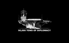 Picture weapons, background, the carrier, tons of diplomacy, 90 000
