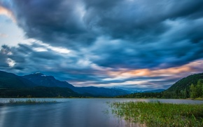 Picture the sky, clouds, mountains, river, Canada, panorama, Canada, British Columbia, British Columbia, Columbia River, Rocky …