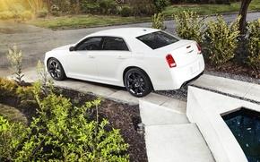 Picture Auto, White, Chrysler, Wheel, Sedan, Car, 300C, Side view, 300 C