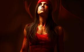 Picture girl, art, killer, Marvel Comics, Elektra, Elektra Natchios