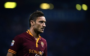 Wallpaper football, Rome, captain, legend, Italy, Legend, Football, Captain, Seria A, Roma, Series A, Kappa, Totti, ...