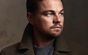 Picture face, background, portrait, photographer, actor, coat, Leonardo DiCaprio, closeup, Leonardo DiCaprio, John Russo