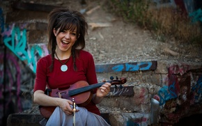 Picture violin, beauty, violin, Lindsey Stirling, Lindsey Stirling