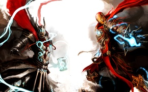 Picture iron man, iron man, avengers, the Avengers, thor, Thor, medieval, marvel, medieval, marvel