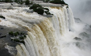 Picture nature, big, waterfall, brazil, great