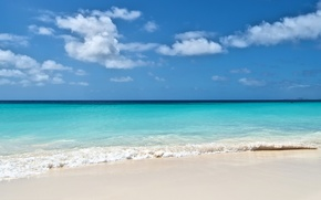 Picture sand, sea, beach, the sky, nature, horizon