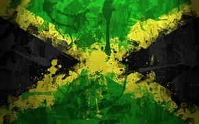 Picture paint, flag, Jamaica