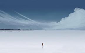 Wallpaper people, Clouds, minimalism