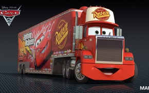 Picture cartoon, cars, pixar, mack, disney