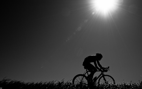 Picture nature, mood, the evening, athlete, cyclist, road bike