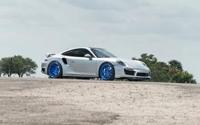 Picture Porsche, Turbo, Wheels, 991, Strasse