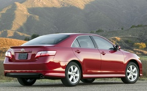 Picture machine, auto, red, toyota, 2009, Toyota, camry, Camry