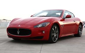 Picture auto, red, Maserati, GranTurismo