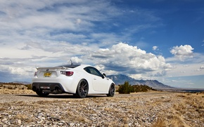 Picture the sky, clouds, nature, Subaru, white, white, Subaru, brz